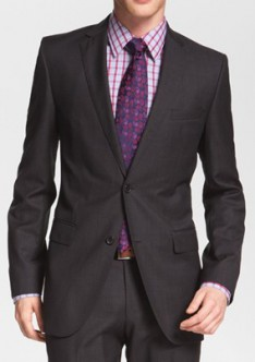2 Button Charcoal Grey Suit AS-7