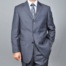 3 Button Charcoal Grey Suit AS-32