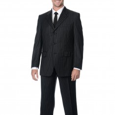 3 Buttons Single Breast Black Suit AS-30